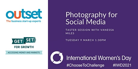 Photography for Social Media - an IWD Taster Session tickets