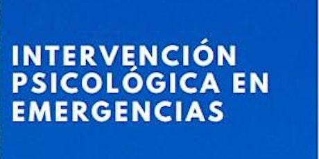 Jornadas de Psicología. Intervención Psicológica en Emergencias entradas