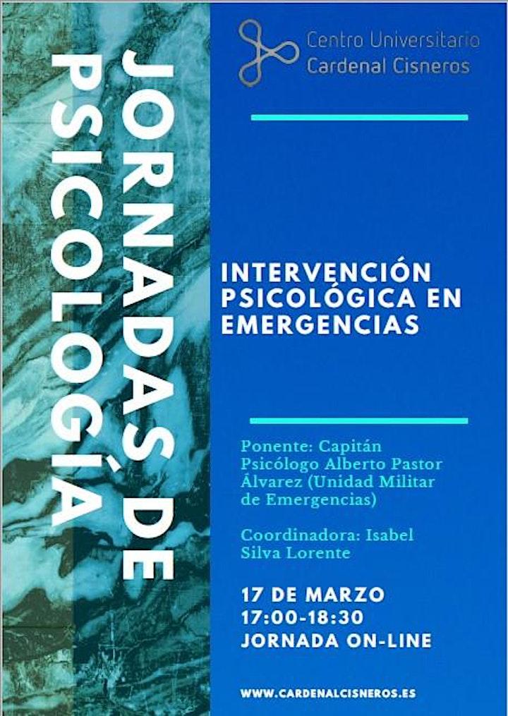 Imagen de Jornadas de Psicología. Intervención Psicológica en Emergencias