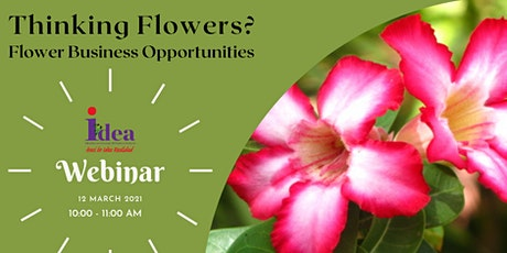 Thinking Flowers? Flower Business Opportunities Webinar tickets