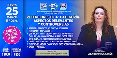 RET. 4° CATEGORÍA-  CASOS PRACTICOS -  ASPECTOS RELEVANTES Y CONTROVERSIAS entradas