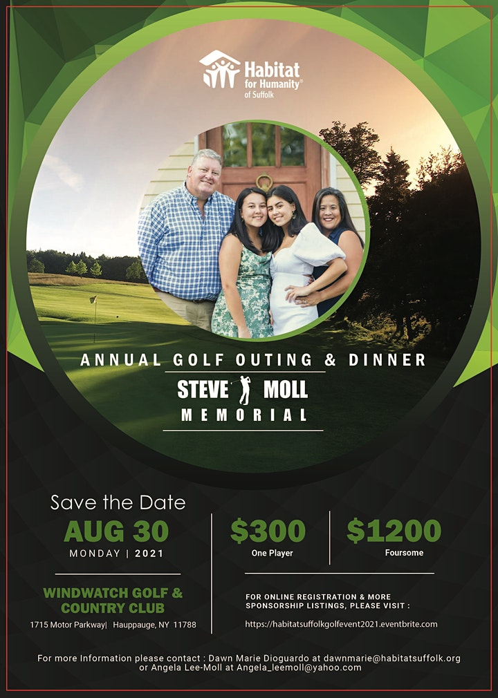 Habitat Suffolk's 2021 Annual Golf Outing & Dinner  in Memory of Steve Moll image