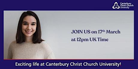 Canterbury Christ Church University Webinar tickets
