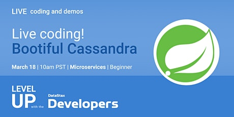 Bootiful Cassandra! Live coding session tickets