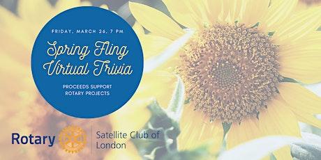 Rotary Virtual Trivia Night - Spring Fling! tickets