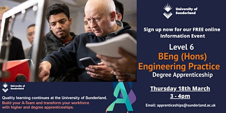 University of Sunderland BEng (Hons) Engineering Practice Information Event tickets