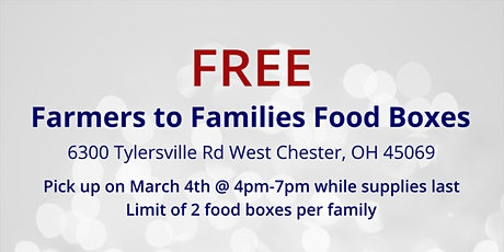 Farmers to Families Food Box Giveaway - March 4, 2021 tickets