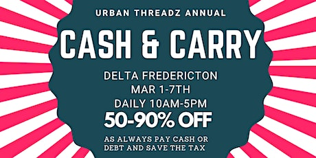 URBAN THREADZ POP UP SALE @ DELTA FREDERICTON tickets