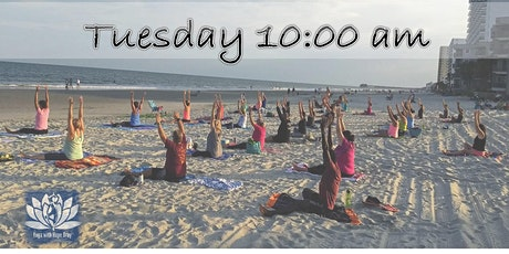 BEACH YOGA, TUES., March 9th  @ 10:00 am w/Social Distancing tickets