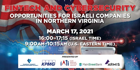 FinTech and Cyber: Opportunities for Israeli Companies in Northern Virginia tickets