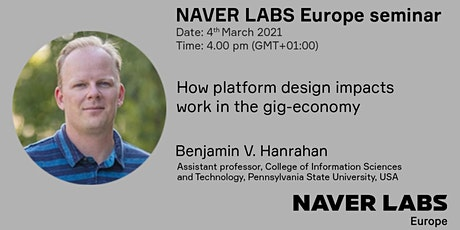 NAVER LABS Europe seminar: How platform design impacts work biglietti