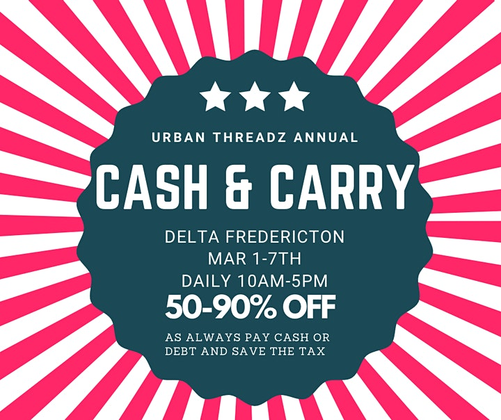 URBAN THREADZ POP UP SALE @ DELTA FREDERICTON image