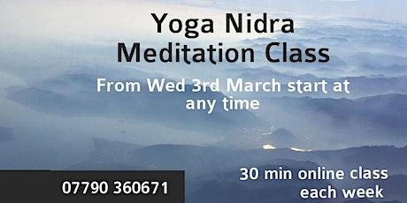 Online yoga nidra meditation tickets