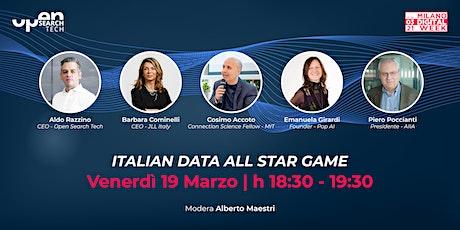 #MDW21   Italian Data All Star Game biglietti