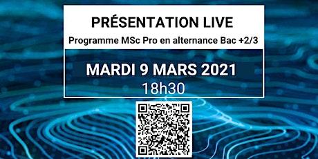 Présentation Live du cursus MSc Pro tickets