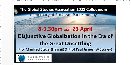 GSA Colloquium 2: Disjunctive Globalisation in the Era of Great Unsettling tickets