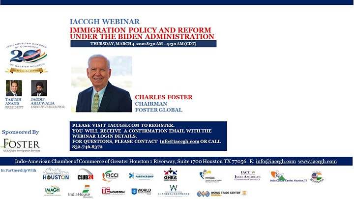 IACCGH webinar: Immigration Policy & Reform under the Biden Administration image