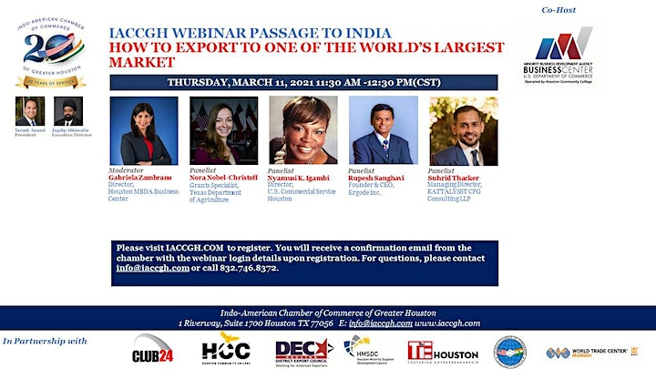 IACCGH Webinar: Passage to India image