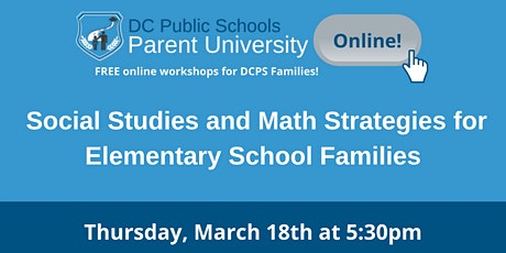 Social Studies and Math Strategies for Elementary School Families tickets