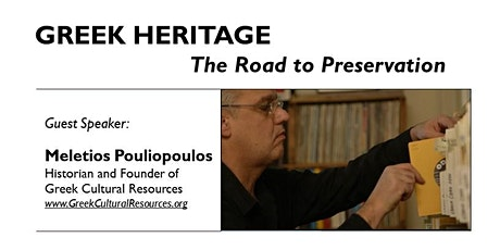 Greek Heritage - The Road to Preservation tickets