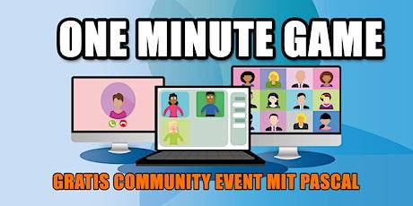 OneMinuteGame - Rhetorik Training mit der Community Tickets
