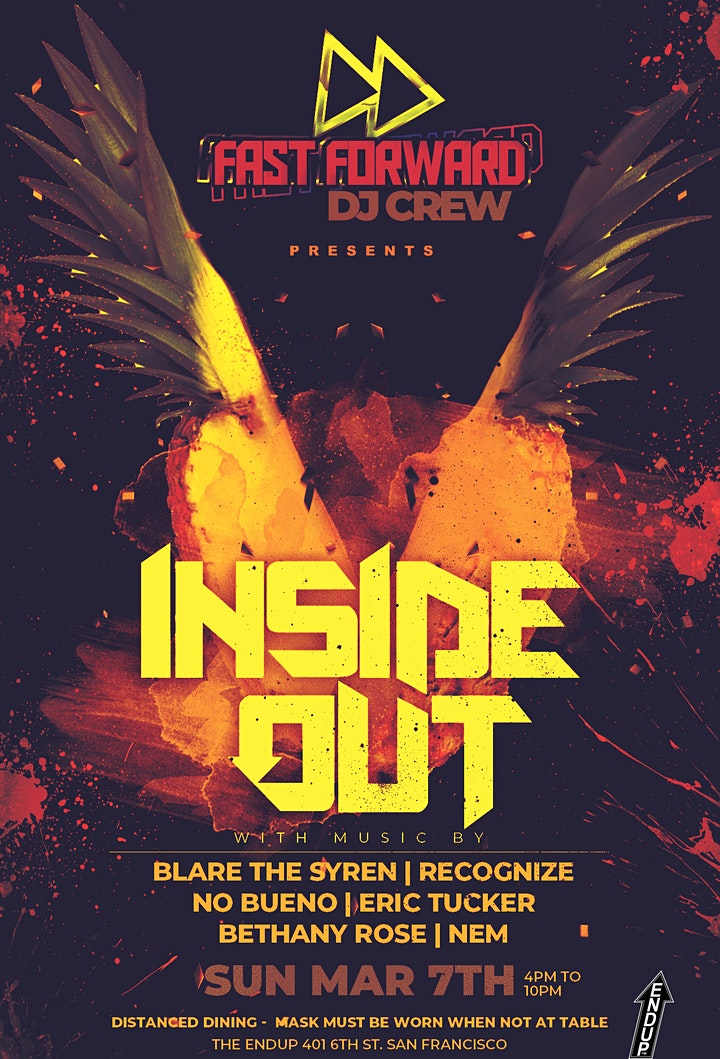 Fast Forward DJ Crew Presents Inside Out Distanced Dining image