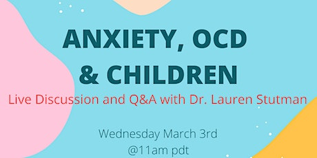 Anxiety, OCD and Children tickets
