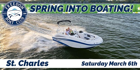 Freedom Boat Club St. Charles | Spring into Boating Sale! tickets