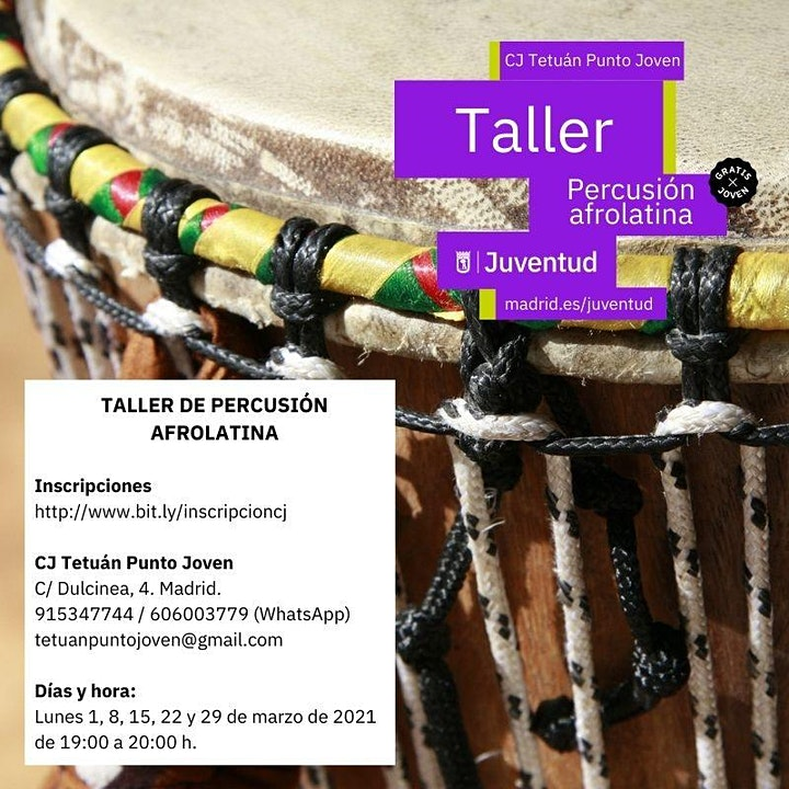 Imagen de Taller de percusión afrolatina