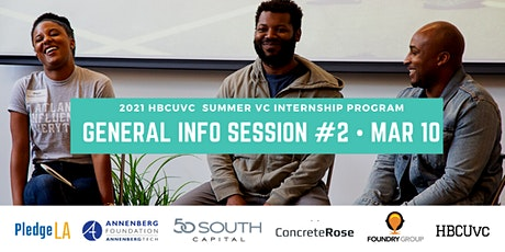 HBCUvc Summer VC Internship: General Info Session #2 tickets