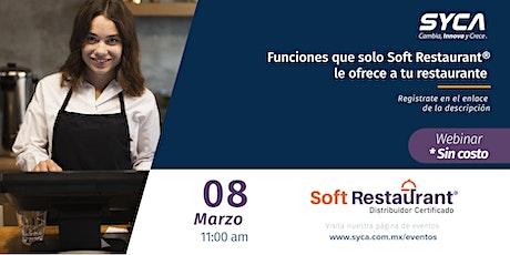 Funciones que solo Soft Restaurant® le ofrece a tu restaurante boletos