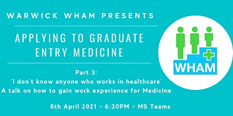 A talk on how to gain work experience for Medicine tickets