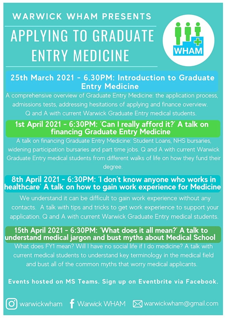 A talk on how to gain work experience for Medicine image