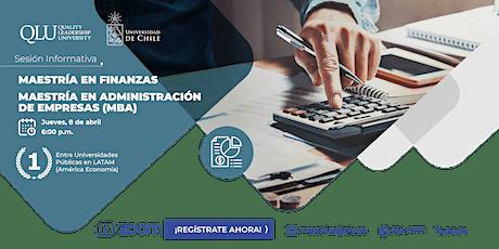Sesión Informativa - Maestrías en Finanzas & MBA boletos