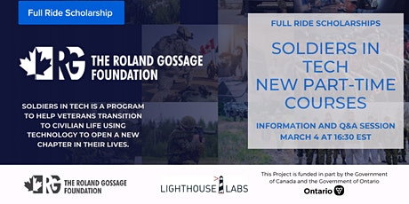 Soldiers in Tech Online Information Session bilhetes