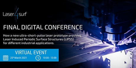 LASER4SURF Final Digital Conference: Bringing LIPSS to the Market tickets