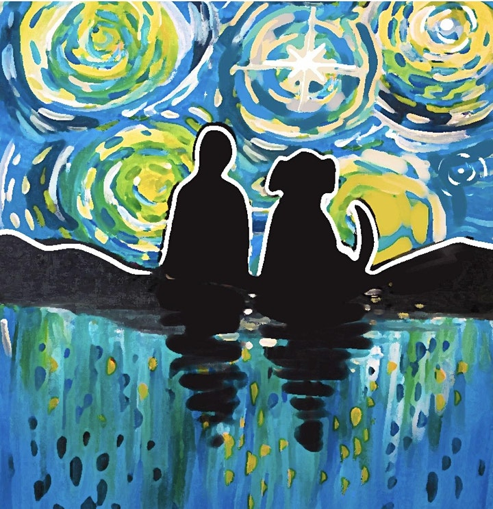 A Pet's Starry Night - SCARS Paint Night Fundraiser image
