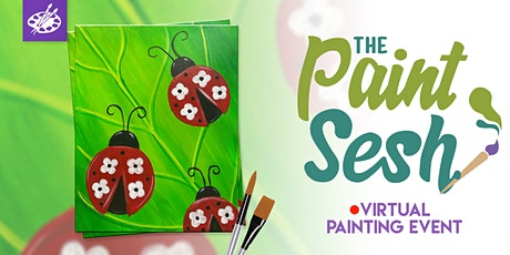 "Online Painting Class – ""Floral Lady Bugs"" (Virtual Painting at Home) tickets"