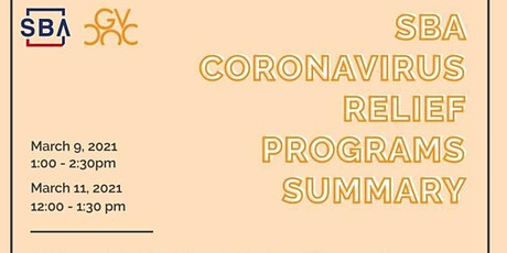 Summary of SBA Coronavirus Relief Programs tickets
