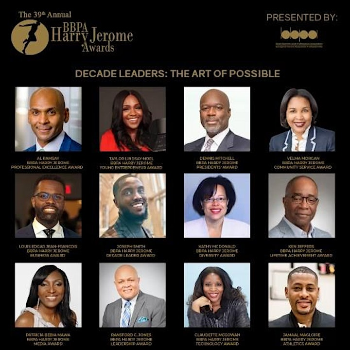 39th Annual BBPA Harry Jerome Awards - Decade Leaders image