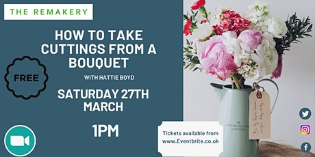 How to take cuttings from a bouquet tickets