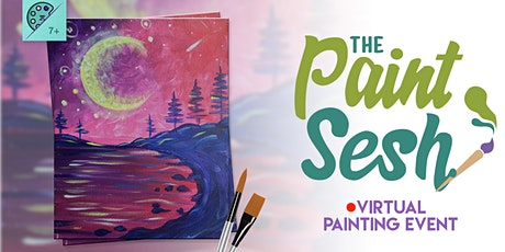 "Virtual Paint Night at Home: ""Crescent Bay"" - (Online Painting Class) tickets"