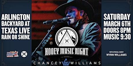 Hooey Music Night: Chancey Williams tickets
