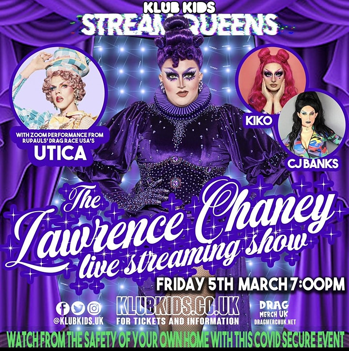 Klub Kids  UK presents The LAWRENCE CHANEY live streaming show image