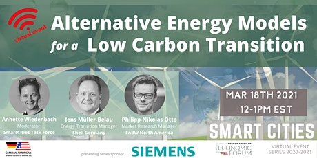 Alternative Energy Models for a Low Carbon Transition tickets