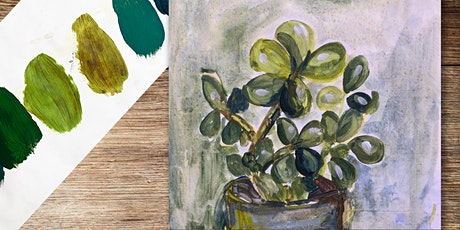 Painting with acrylics - Mixing greens without using green paint tickets