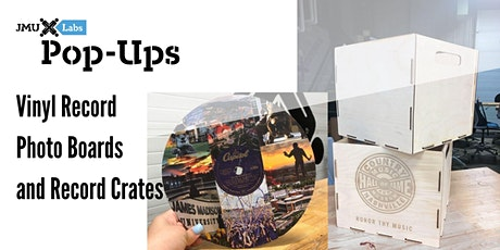 Pop-Ups: Vinyl Record Photo Boards, Laser Engraved Record Crates tickets