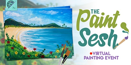 "Virtual Paint Night at Home: ""Tropical Paradise"" - (Online Painting Class) tickets"