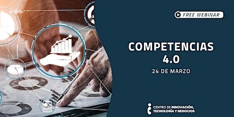 Webinar: Competencias 4.0 boletos