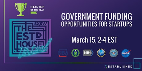 Government Funding Opportunities for Startups presented by Established tickets